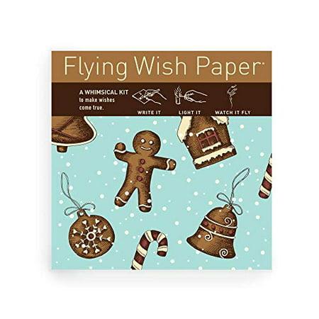 Gingerbread FLYING WISH PAPER - Licensed Original Artwork, Mini Wishing  Kit, 5