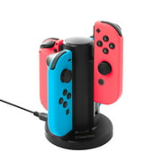 Joy Con Charger for Nintendo Switch , 4 in 1 Joy-Con Charging Dock Station with Individual LED Charge Indicator and USB Cable for Nintendo Switch JoyCon Controller Accessories by Insten