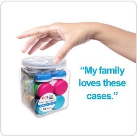 Contact Lens Case, Color Case, Value Pack (Pack of