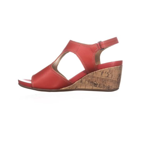23f61c62d31 Naturalizer - Naturalizer Womens Cinda Leather Open Toe Casual Slingback  Sandals - Walmart.com