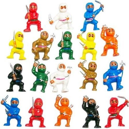 Karate Fighter (50 Mini Karate Ninjas Warriors Fighters Figures Cupcake Cake Toppers Ninja Kung Fu Guys Martial Arts Men Lot Party Favors, 8 Colors - Brown Black Blue Red Orange Green.., By Mini Ninjas)
