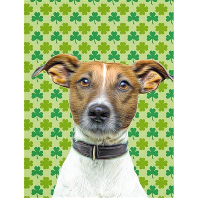 Carolines Treasures KJ1197GF St. Patricks Day Shamrock Jack Russell Terrier Flag Garden Size - image 1 of 1