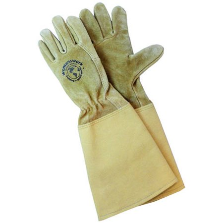 WWG Womanswork Rose Gauntlet Gloves with Canvas Cuff (Gaunlet Gloves)