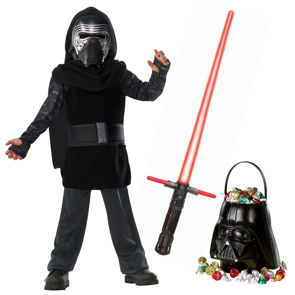 Star Wars Episode VIII: The Last Jedi - Kylo Ren Classic Child Costume and Lightsaber Bundle - Size MEDIUM