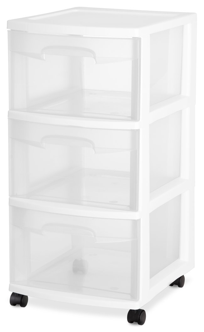 Beau Sterilite Home 3 Drawer Storage Cart Portable Container With Casters |  28308002   Walmart.com