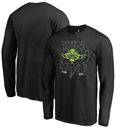 San Antonio Spurs Fanatics Branded 2018 NBA Playoffs Star Wars Win You Must  Long Sleeve T-Shirt - Black c1cf907d2