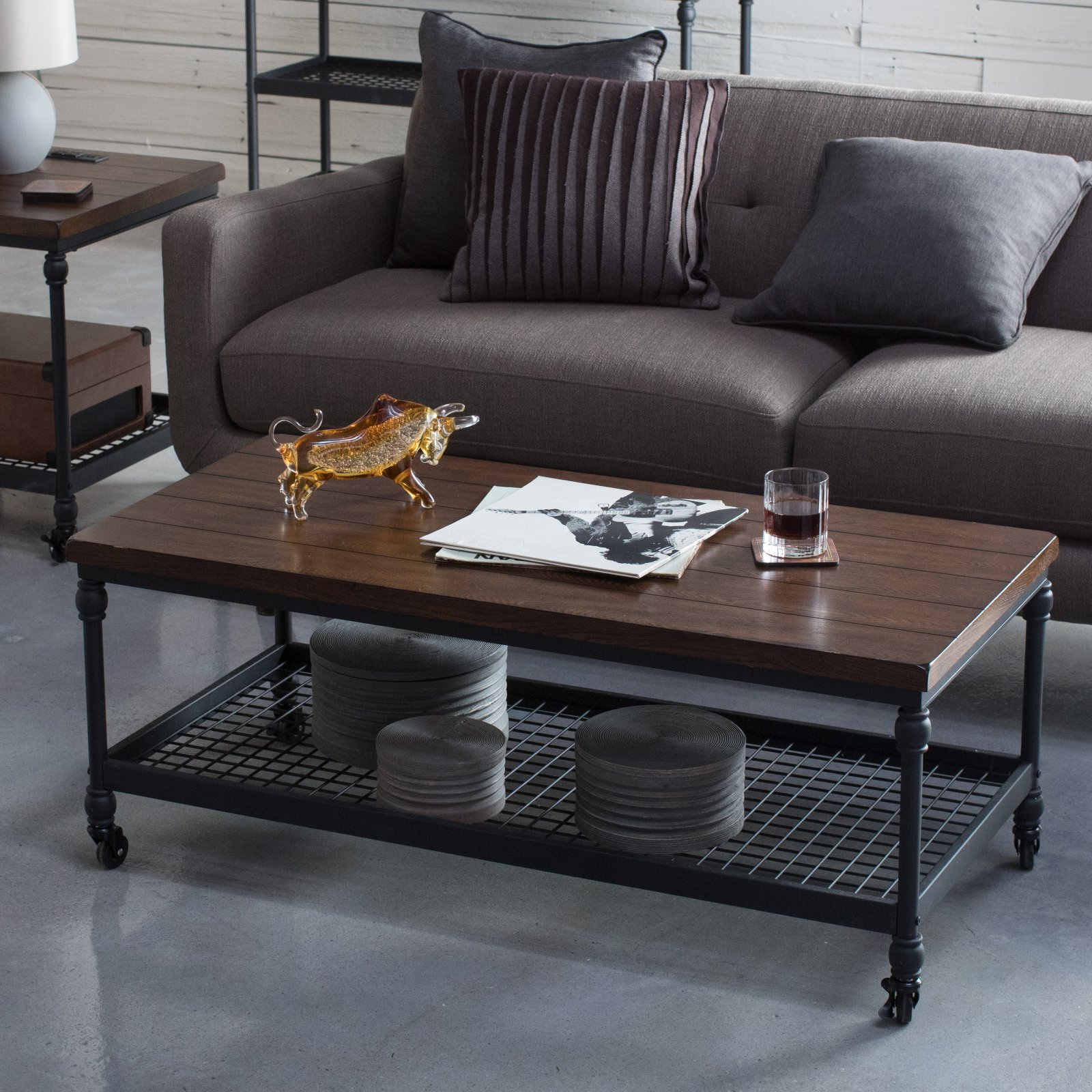 Superbe Belham Living Archer Industrial Coffee Table