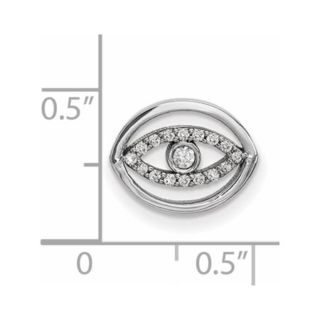 14k or blanc Petit diamant d'or Halo Evil Eye (12x10mm) Pendentif / Breloque - image 1 de 2