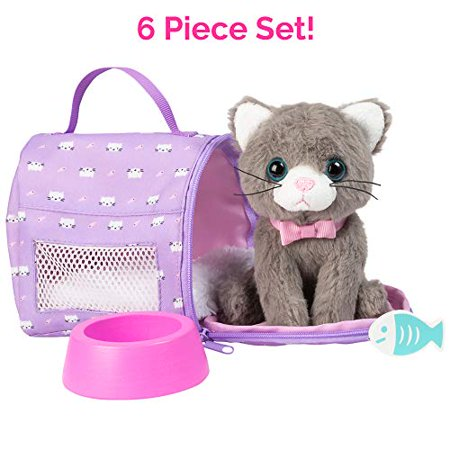 Adora Amazing Pets ?Misty the Grey Kitty? - 18? Doll Accessory includes 4.5