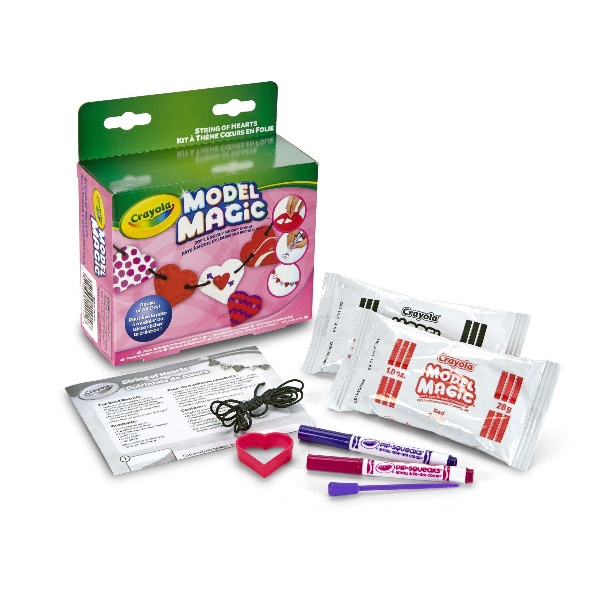 Crayola Model Magic Heart Garland, Valentine Craft Kit, Gift for Kids