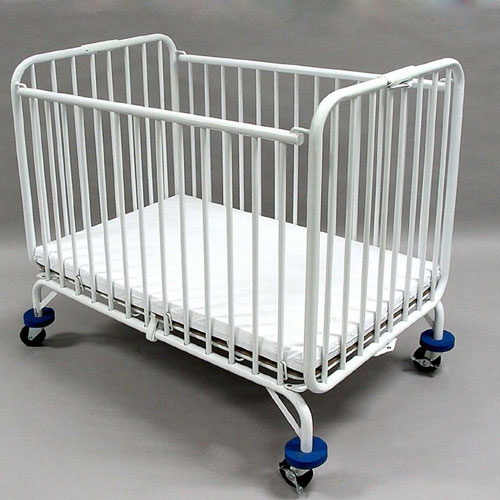L.A. Baby Commercial Folding Metal Holiday Crib