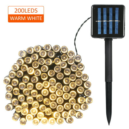 Solar Powered String Light 100/200 LEDs 2 Lighting Modes Christmas Lights IP65 Water-resistant Outdoor Hanging Fairy Lighting for Holiday Party Living Room Garden Patio ()