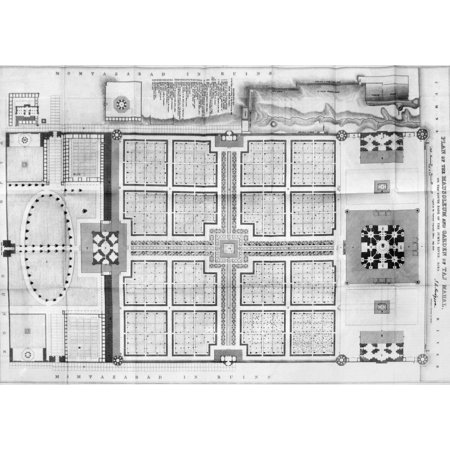 India Taj Mahal Plan Nfloor Plan Of The Mausoleum And Garden Of The Taj Mahal In Agra India A Marble Mausoleum Built (1631-1645) By The Mogul Emperor Shah Jahan In Memory Of His Favorite Wife Mumtaz (Images Of Shah Jahan And Mumtaz Mahal)