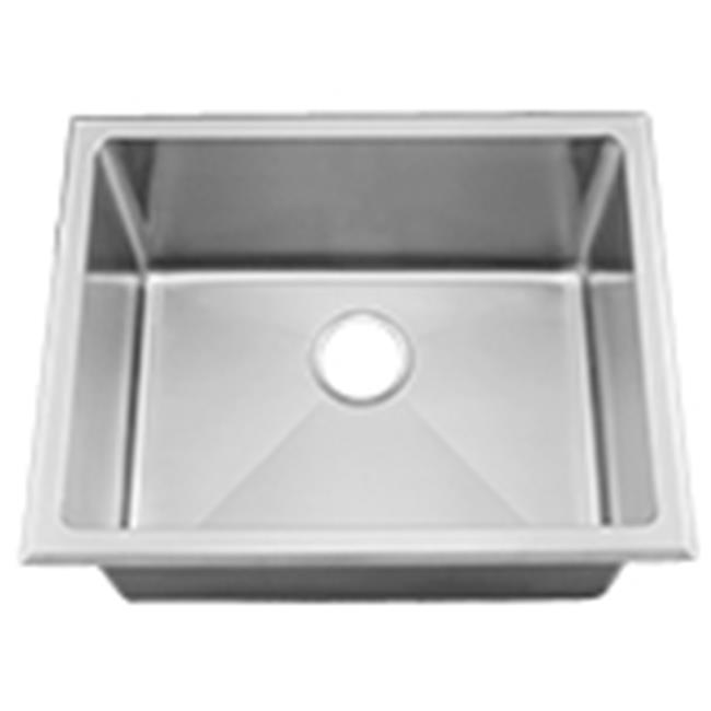 CI HR HA450B 15 Gauge Radial Milam Stainless Steel Deep Laundry Sink