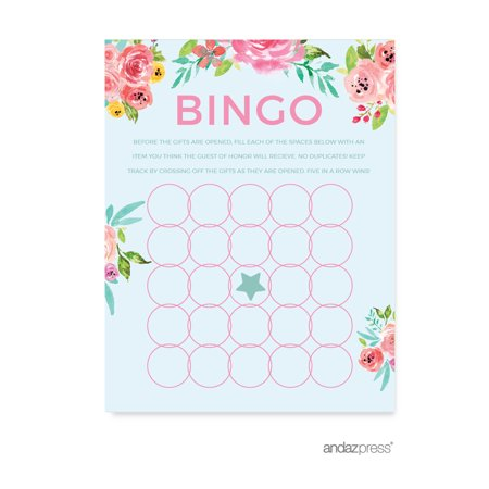 wedding pink roses english tea party 20 pack bridal shower bingo game cards