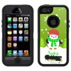 Skin Decal for OtterBox Defender Apple iPhone SE Case - Holiday Penguin with Scarf on Green