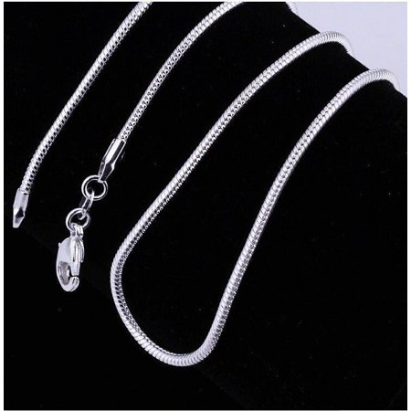 Avon Snake Necklace (ON SALE - Smooth Snake Sterling Silver 1mm Chain Necklace 18-26 inches 22 )