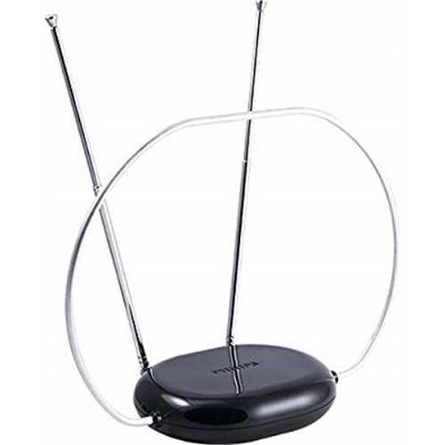 Philips SDV8201B/27 HD Traditional Passive TV Antenna - Sleek Indoor Design with Loop and Dipoles - Indoor VHF/UHF High-Definiti