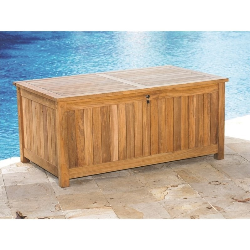 Three Birds Casual Patio Storage Bench in Teak