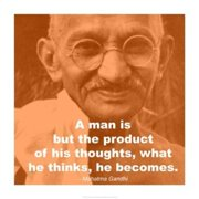 Pivot Publishing - A PPAPVP2634 GandhiThoughts Quote -14 x 14- Poster Print