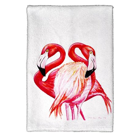 Betsy Drake KT384 Two Flamingos Kitchen Towel - image 1 of 1