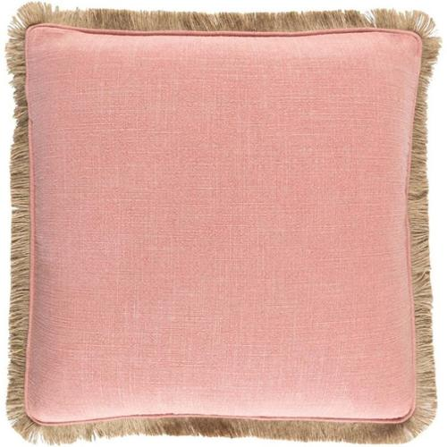 "Surya Ellery Poly Fill 18"" Square Pillow in Pink"