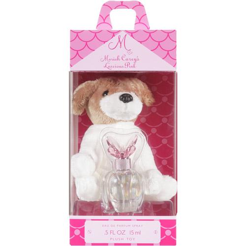 Mariah Carey Luscious Pink Eau ce Parfum Spray (0.5 fl oz) with Plush Dog