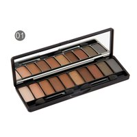 Beauty Cosmetic Powder Eyeshadow Palette, 10 Colors Eye Makeup Eyeshadow Pallets for Makeup, UCOWQ2251A Professional Pigment Nude Eyes Shadow for Women Highlighter Powder Face Eye Brighten With Brush