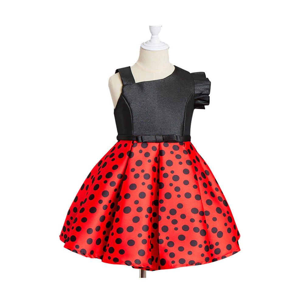 467076a3ed30e Kids Girls Sleeveless Polka Dot Elegant Dress