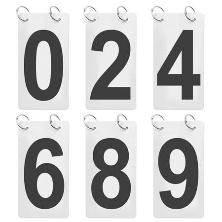 "GOGO 6 Sets Score Reporter, 2 1/2"" x 5"" PVC Double Sides Flip Number Chart, 0-9-Black"