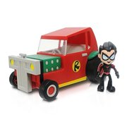"DC Comics Teen Titans Go! 3"" Action Figure: Robin With Vehicle"