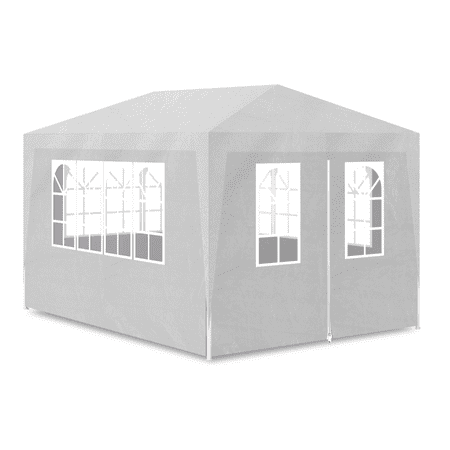 Outdoor 10' x 13' Canopy Gazebo Party Tent with 4 Walls - White