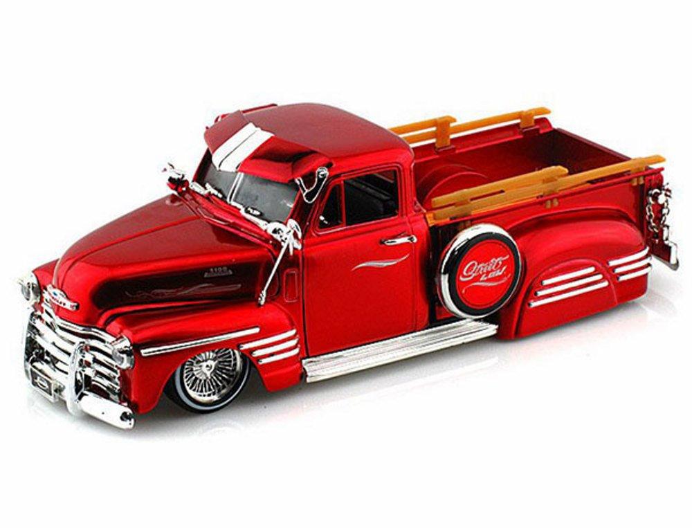 1951 Chevy Pickup Truck, Red Jada Toys 96802 1 24 scale Diecast Model Toy Car by Jada