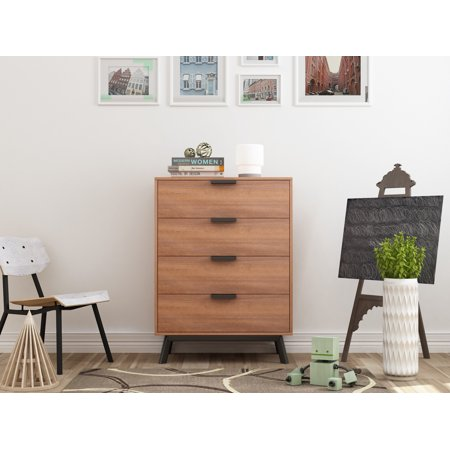 mid drawers century on savings shop black bedroom chest etsy of walnut furniture modern dresser refinished allthingsnewkc