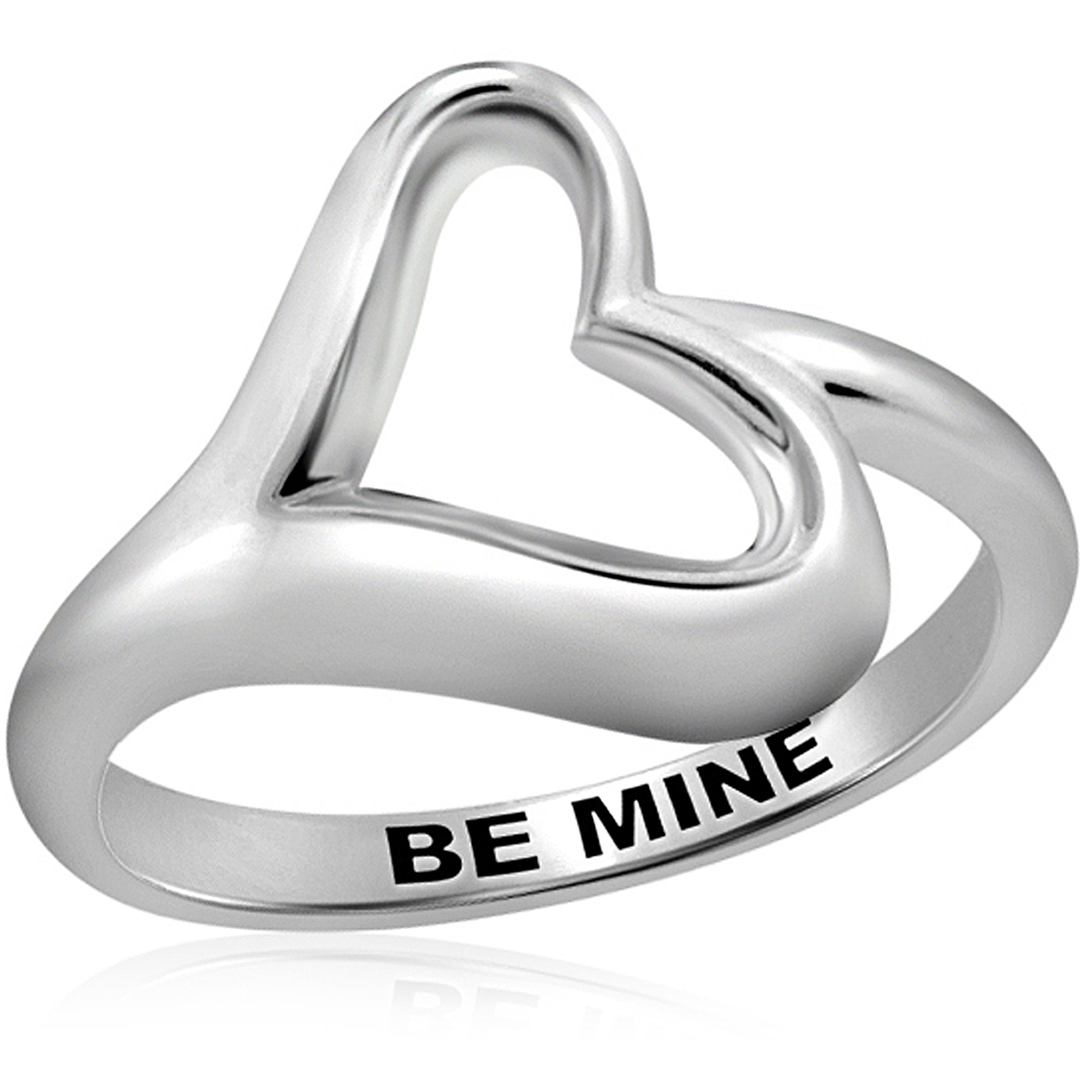 "JewelersClub ""Be Mine"" Heart Ring In Sterling Silver"