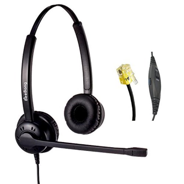Telephone Headset Corded Rj9 With Noise Cancelling Microphone For Cisco Ip Phones Walmart Com Walmart Com