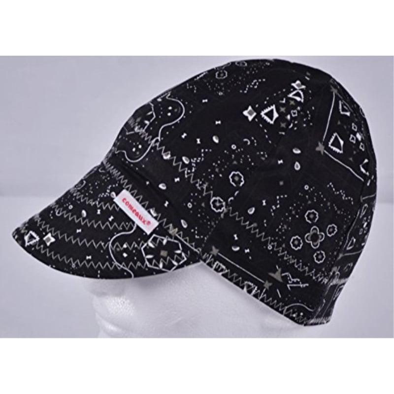 Comeaux Caps Reversible Welding Cap Black Bandana Size 7 1/4