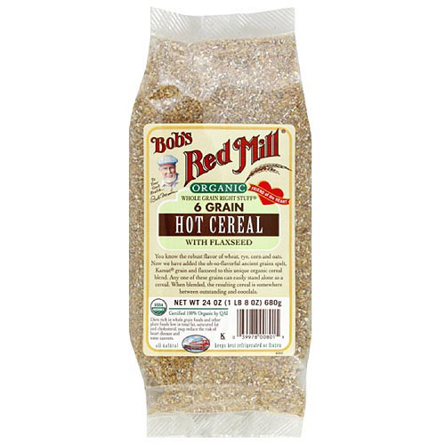 Bob's Red Mill Organic Whole Grain Right Stuff 6 Grain Hot Cereal With Flaxseed, 24 oz (Pack of 4)