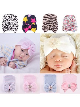 6029f8d797e Product Image HiCoup Cute Newborn Infant Baby Girls Toddler Bowknot Beanie  Hat Cap Christmas Gift