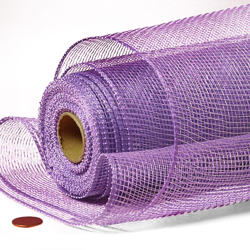 """21"""" X 10 Yards Lavender Crystal Deco Mesh by Paper Mart"""