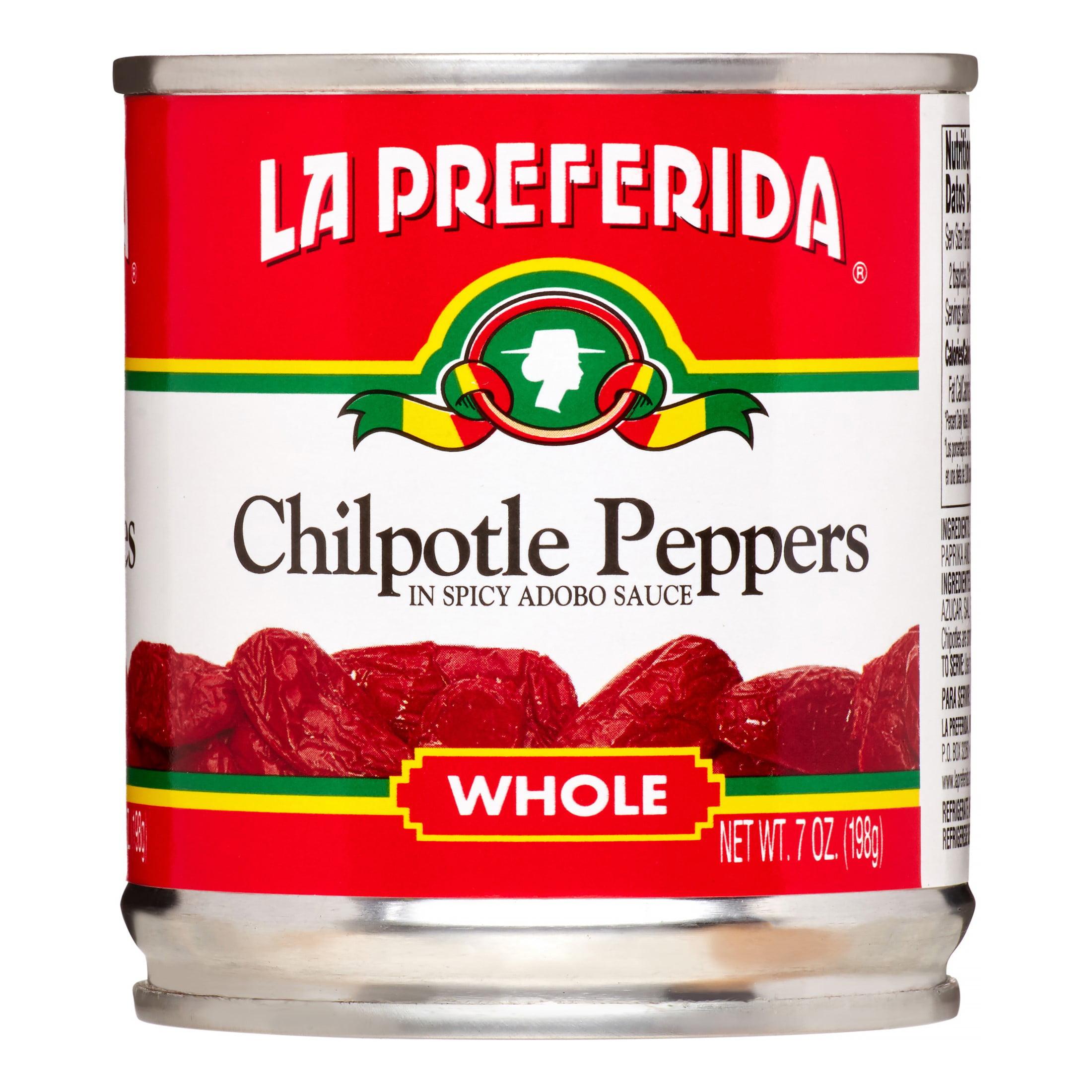 (6 Pack) La Preferida Chipotle Peppers, 7 Oz