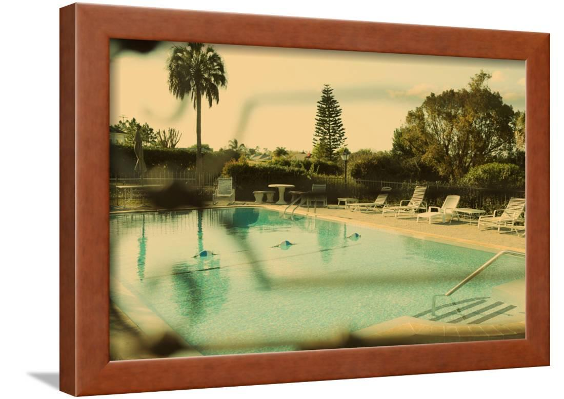 Luxurious Vintage Swimming Pool: Serene, Quiet And Peaceful Framed ...