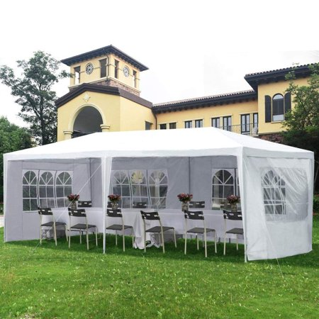 "UBesGoo Canopy Wedding Tent Outdoor Camping Gazebo Canopy with 4 Sidewalls Canopy (10"" X 20"")"