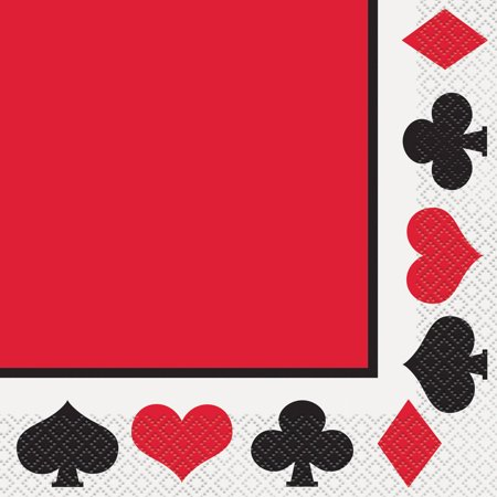 Casino Party Lunch Napkins, 16ct
