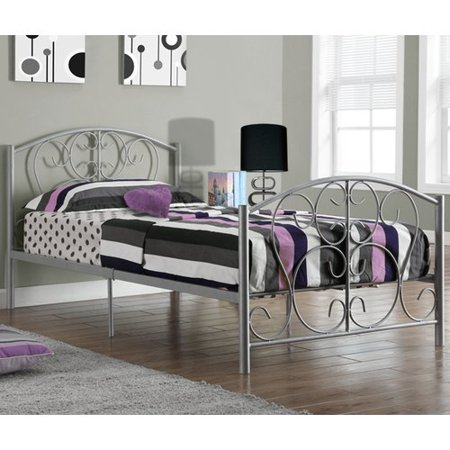Monarch Bed Twin Size / Silver Metal Frame Only Monarch Silver Cartridge