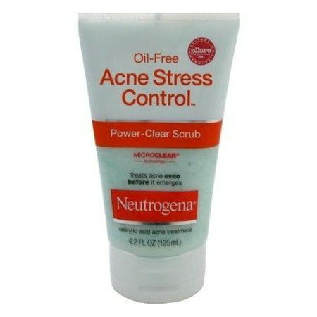 Neutrogena Oil-Free Acne Stress Control Power-Clear Scrub, 4.2 Fl.