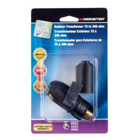 Transformer 300 Ohm Black Monster Cable TV Wire and Cable 140555-00 050644624667 ()