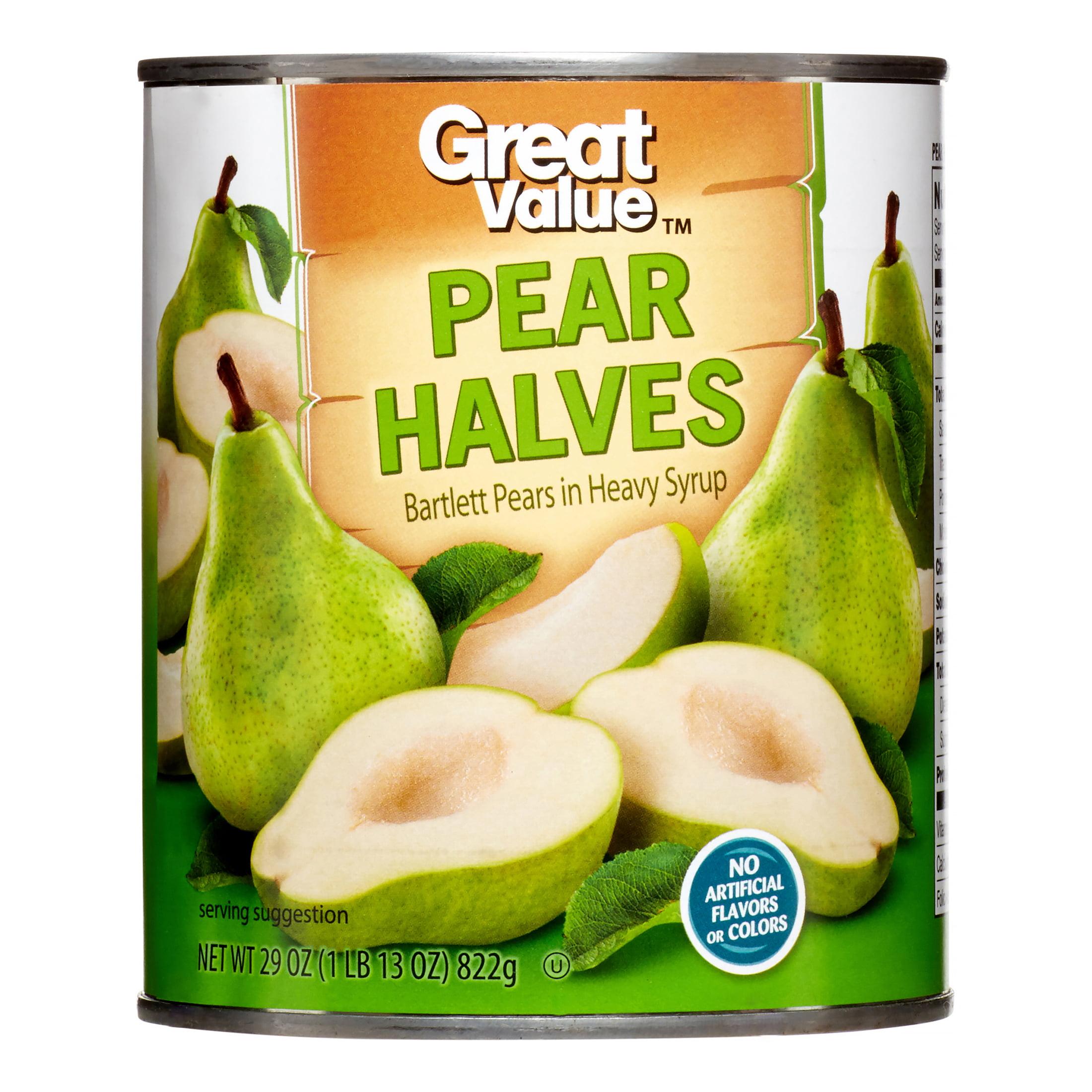 Great Value Pear Halves in Heavy Syrup, 29 oz - Walmart.com