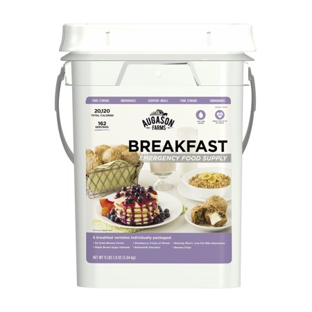 Augason Farms Breakfast Emergency Food Supply 11 lbs 1. 8 oz 4 Gallon (Best Emergency Food Supply)