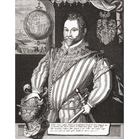 Sir Francis Drake Vice Admiral 1540 To 1596 English Sea Captain Privateer Navigator Slaver Renowned Pirate And Politician Of The Elizabethan Era From The Book Short History Of The English People By JR - Elizabethan Era For Kids